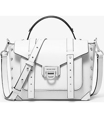 mk borsa a mano manhattan media in pelle - bianco ottico (bianco) - michael kors