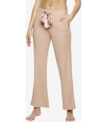 felina cozy hacci lounge pant with satin tie