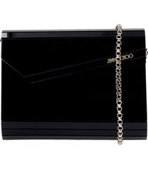 jimmy choo candy clutch in black acrylic