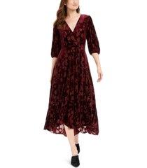 calvin klein burnout surplice a-line dress