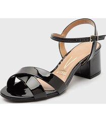 sandalia negro vizzano