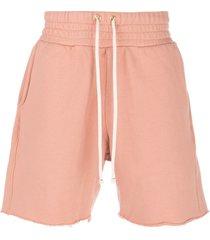 les tien straight-leg track shorts - pink