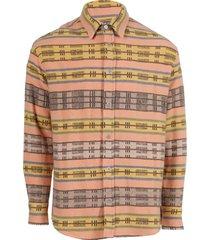 carolina stripe woven button-up shirt