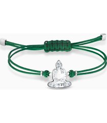 braccialetto swarovski power collection buddha, verde, acciaio inossidabile