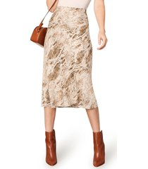 women's cupcakes and cashmere linda snake print skirt, size small - beige