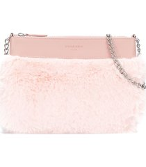 charabia faux-fur clutch bag - pink