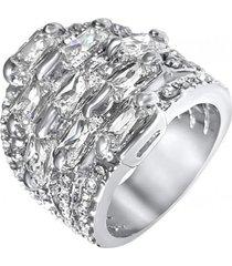 anillo bañado casual blanco arany joyas