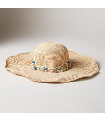 r-sea glass straw hat
