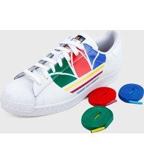 tenis lifestyle blanco-multicolor adidas originals superstar pure,