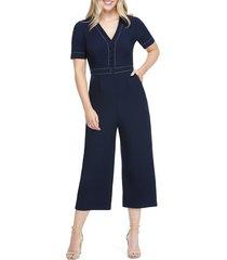 women's maggy london contrast stitch crop jumpsuit