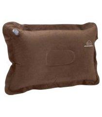 travesseiro inflável smart pvc liso marrom sc0102 guepardo