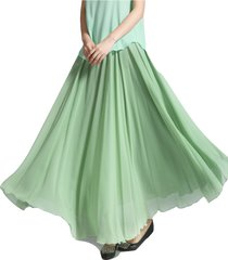 chiffon maxi skirt sage-green silky chiffon maxi skirts sage bridesmaid skirts
