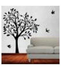 adesivo de parede árvore e pássaros 03 - g 180x150cm