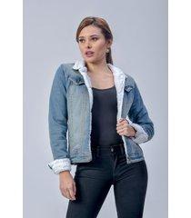 chaqueta clásica dama jeans azul di bello jeans  classic jakets ref c090