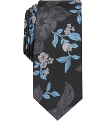 bar iii men's carter skinny floral tie, created for macy's