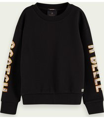 scotch & soda pure cotton artwork sweatshirt