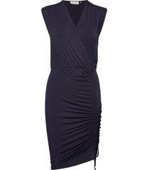 dress ss kort klänning blå rosemunde