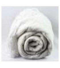 manta para sofá de chenille cor branco