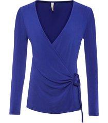 maglia a maniche lunghe con fibbia decorativa (blu) - bodyflirt boutique