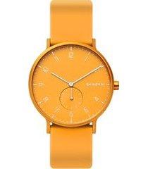 relógio skagen unissex colors amarelo