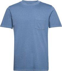 organic cotton pocket t-shirt t-shirts short-sleeved blå gap