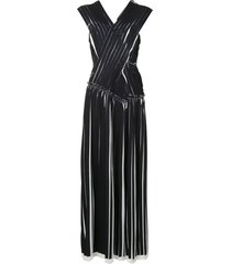 3.1 phillip lim knife pleated crossover dress - black