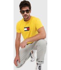 camiseta amarillo-azul-rojo tommy jeans