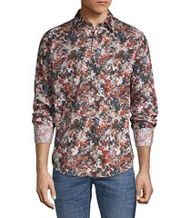 abstract-print cotton shirt