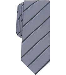 alfani men's clarkson slim stripe tie, created for macy's