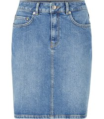 jeanskjol slfkenna mw mid blue denim skirt w