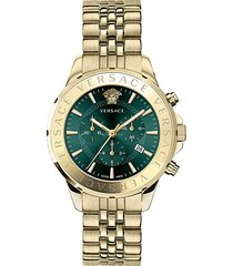 chrono signature ip gold stainless steel bracelet watch