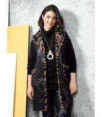 keerbaar vest miamoda zwart::bruin