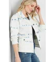 maurices womens tie dye cropped jacket white
