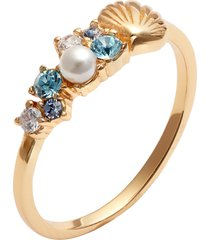 olivia burton shell bubble ring, size 6 in gold at nordstrom