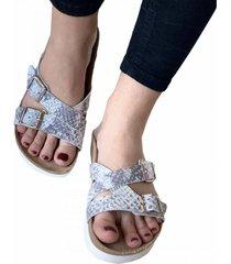 sandalia gris bragué