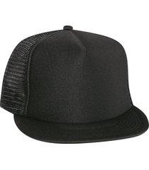 otto polyester foam front flat visor high crown golf style mesh back caps black