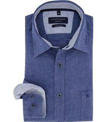 casa moda overhemd donkerblauw gemeleerd