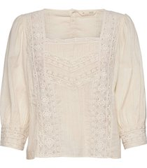 laura blouse blouses short-sleeved crème odd molly