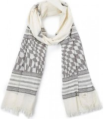 pañuelo ethnic gris/blanco humana