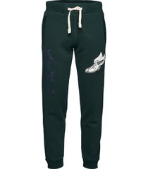 collegiate state jogger sweatpants mjukisbyxor grön superdry