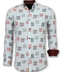 overhemd lange mouw tony backer getailleerde bloemen blouse