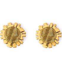 jean louis scherrer pre-owned disk clip-on earrings - metallic