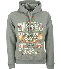 burberry lyleford - montage print cotton hoodie
