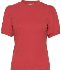 johanna tee blouses short-sleeved röd minus