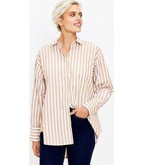 loft striped pocket tunic shirt