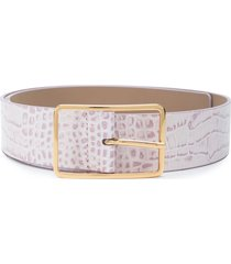 b-low the belt embossed croc-effect belt - purple
