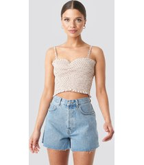 na-kd trend denim high waist shorts - blue