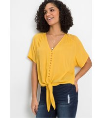blouse met knoop