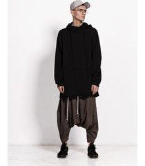 bluza oversize hoodie black