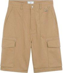 denim cargo shorts - taupe e20ht718.230 281